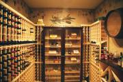 Custom wine cellar in basement