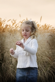 Daughter in the field photo