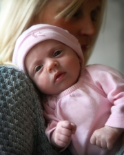 Baby in pink outfit
