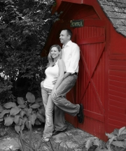 Black white and red engagement
