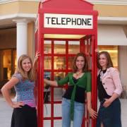 Senior photo phone booth