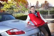 Sports car senior photo